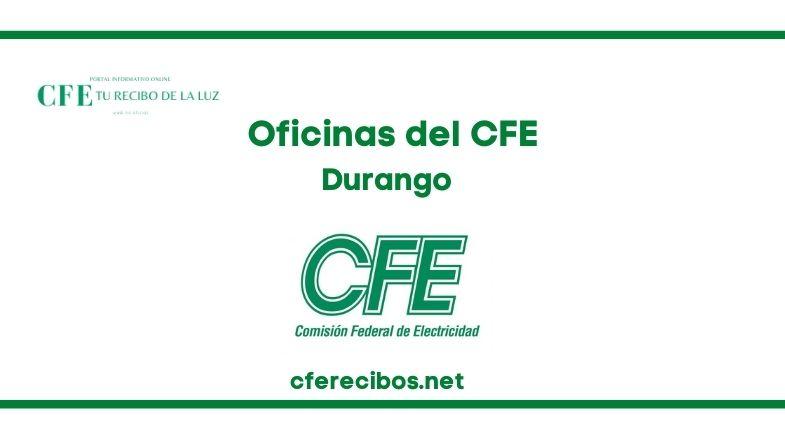Oficinas CFE en Durango