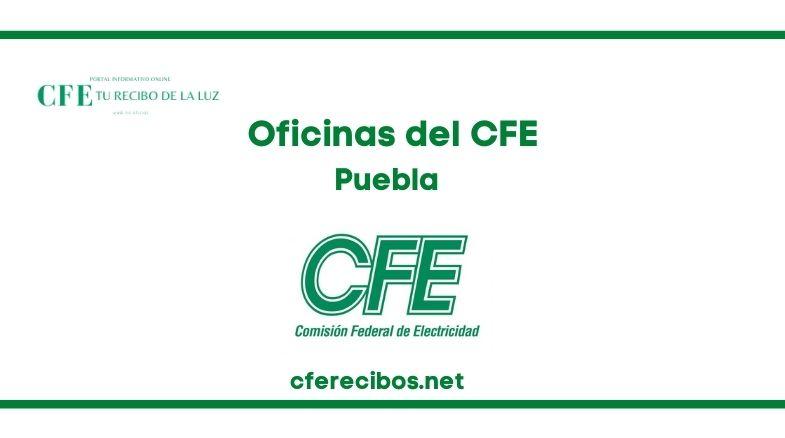 Oficinas CFE en Puebla